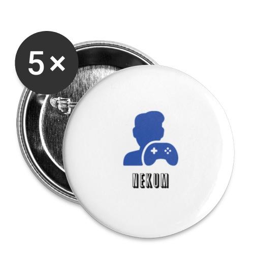 Nekum - Buttons klein 25 mm (5er Pack)