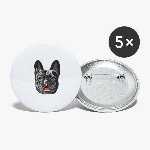 Bulldog - Lot de 5 petits badges (25 mm)