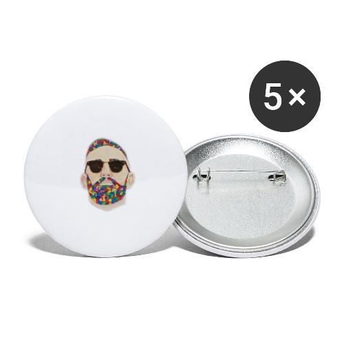 Conor - Buttons klein 25 mm (5er Pack)