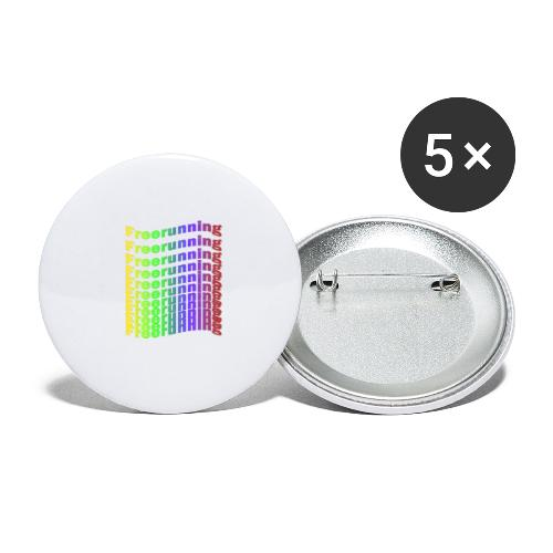 Freerunning Rainbow - Buttons/Badges lille, 25 mm (5-pack)