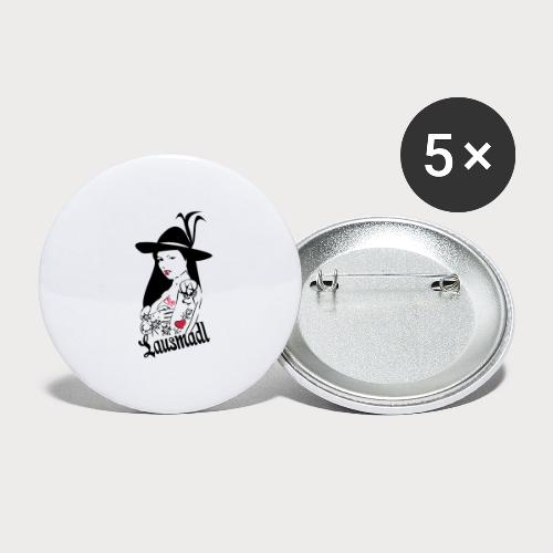 tatto Lausmadl - Buttons klein 25 mm (5er Pack)