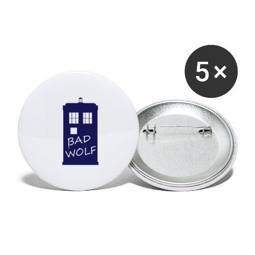 Bad Wolf Tardis - Lot de 5 petits badges (25 mm)