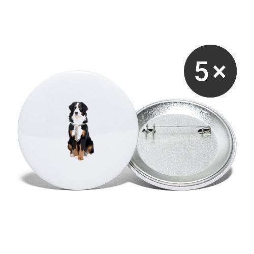 Freja sitter framifrån - Små knappar 25 mm (5-pack)