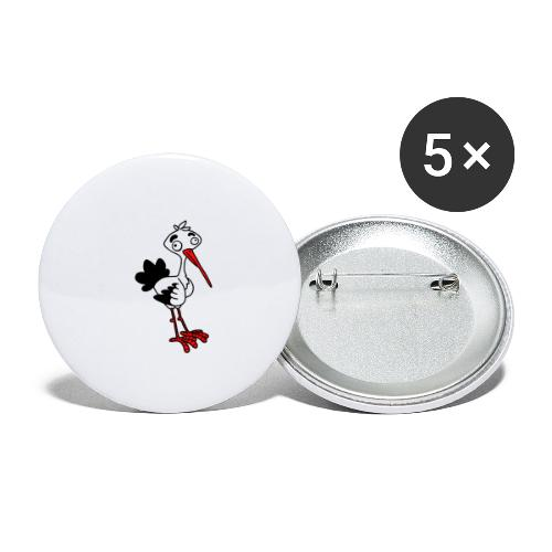 Storch von dodocomics - Buttons klein 25 mm (5er Pack)