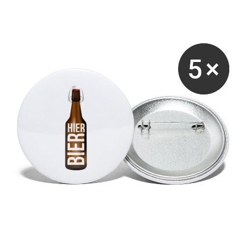 Hier Bier - Shirt - Buttons klein 25 mm (5er Pack)