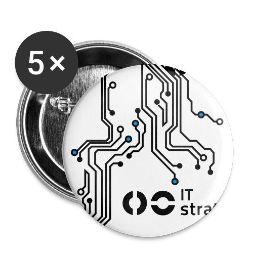 Platinen blue - Buttons klein 25 mm (5er Pack)