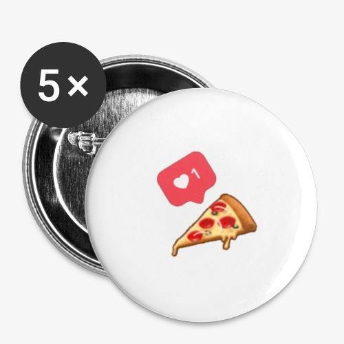 ilove pizza - Paquete de 5 chapas pequeñas (25 mm)
