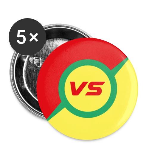 vs - Lot de 5 petits badges (25 mm)