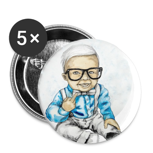 Naughty Boy, carographic - Buttons klein 25 mm (5er Pack)