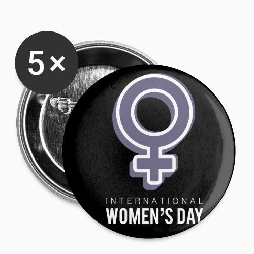 Journée de la femme - Lot de 5 petits badges (25 mm)