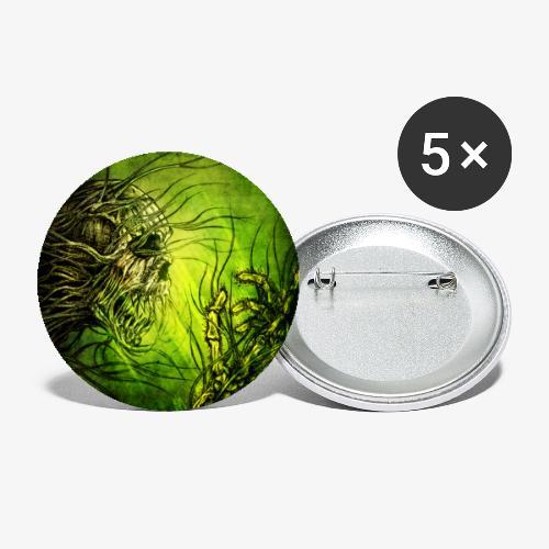 death in green - Lot de 5 petits badges (25 mm)