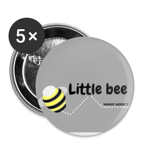 pequeña abeja - Paquete de 5 chapas pequeñas (25 mm)