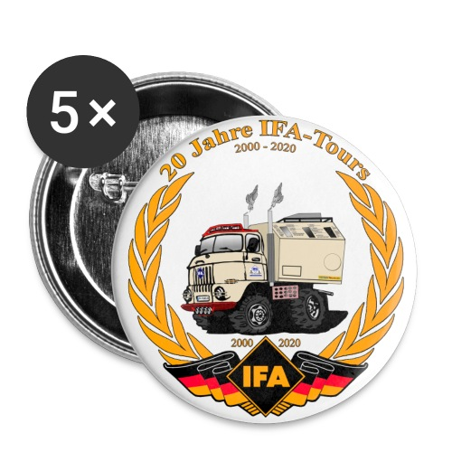 IFA Tours Jubilaeum 20 Jahre - Buttons klein 25 mm (5er Pack)