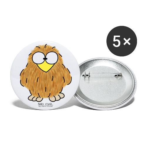 Niki Owl - Buttons small 1''/25 mm (5-pack)