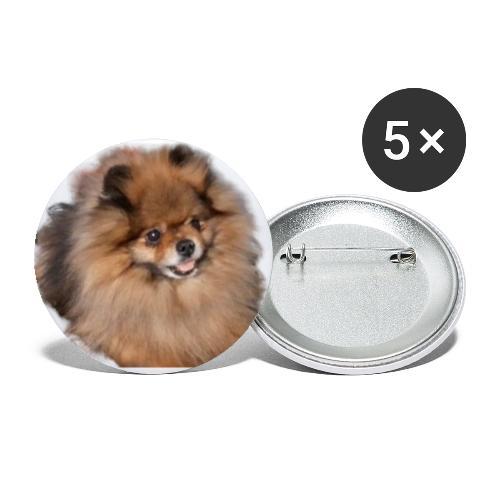 Pomeranian - Små knappar 25 mm (5-pack)