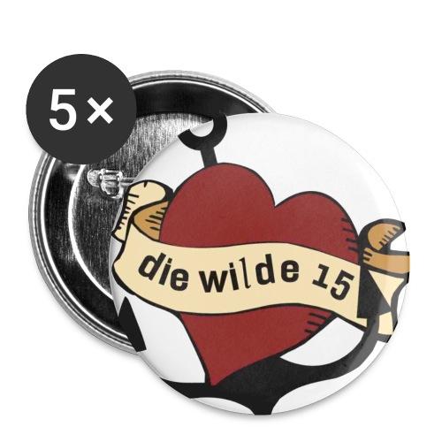 wilde15 - Buttons klein 25 mm (5er Pack)