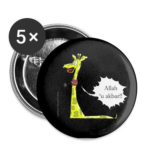 Attentat Giraffe Button - Buttons klein 25 mm (5er Pack)
