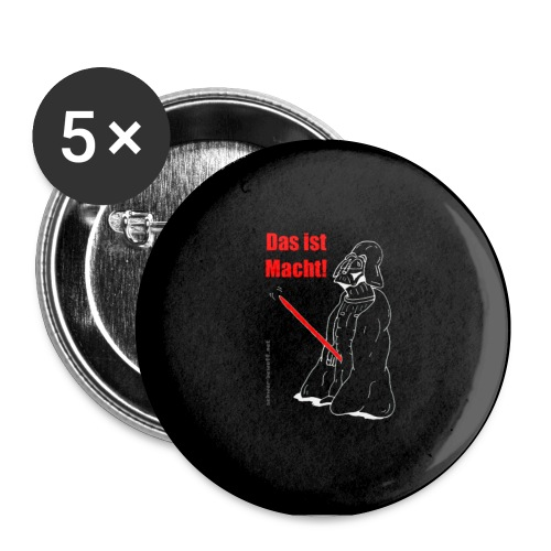Darth Vader s w Button - Buttons klein 25 mm (5er Pack)