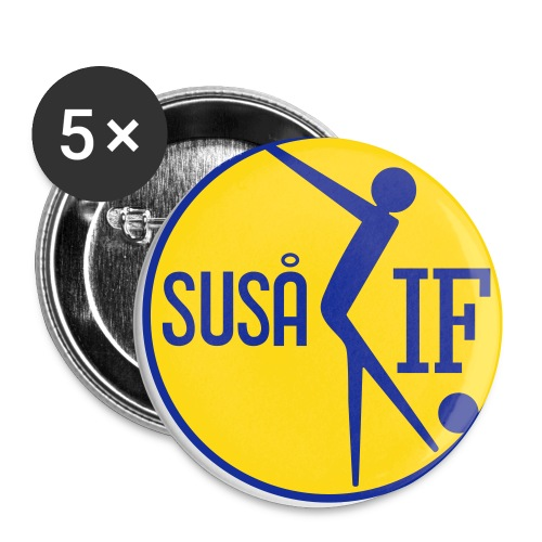 susaa logo 3 - Buttons/Badges lille, 25 mm (5-pack)