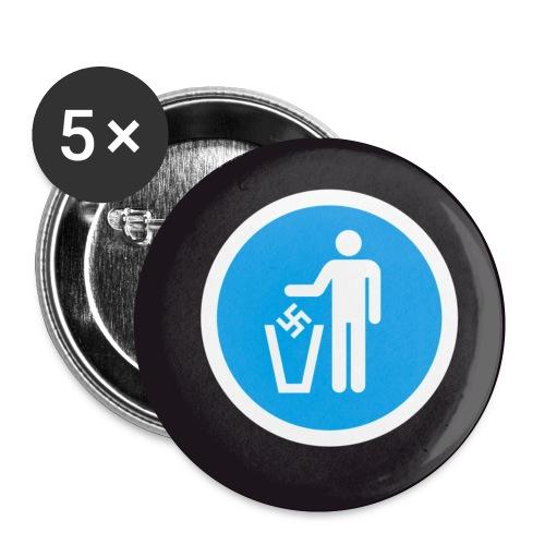 papierkorbblau - Buttons klein 25 mm (5er Pack)