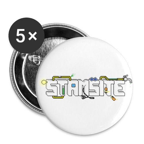 STAMSITE Logo - Små knappar 25 mm (5-pack)