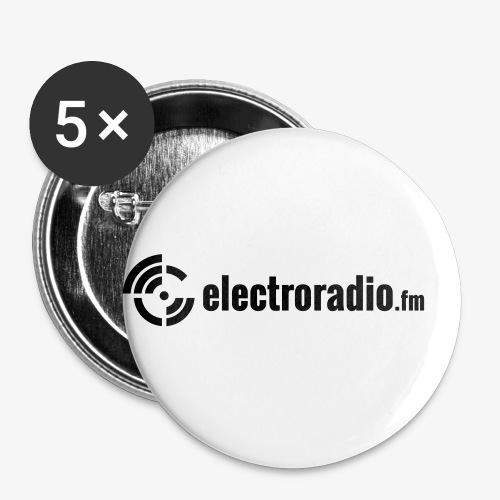 electroradio.fm - Buttons klein 25 mm (5er Pack)