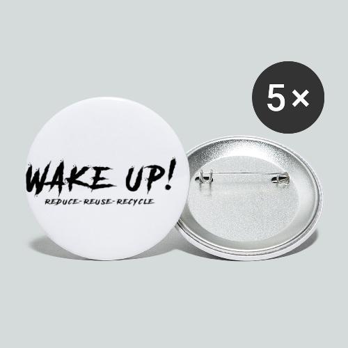Réveille-toi ! Réduis,réutilise,recycle - N - Lot de 5 petits badges (25 mm)