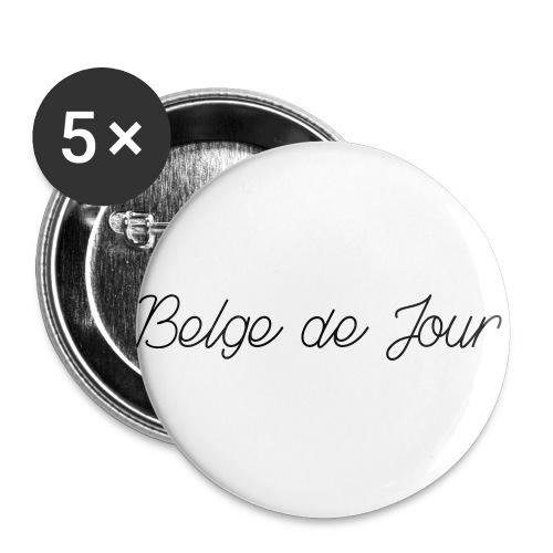 Belge de jour - Lot de 5 petits badges (25 mm)