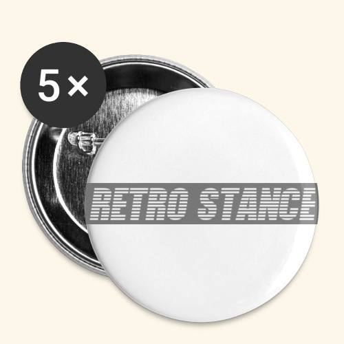 Retro Stance - Buttons small 1''/25 mm (5-pack)
