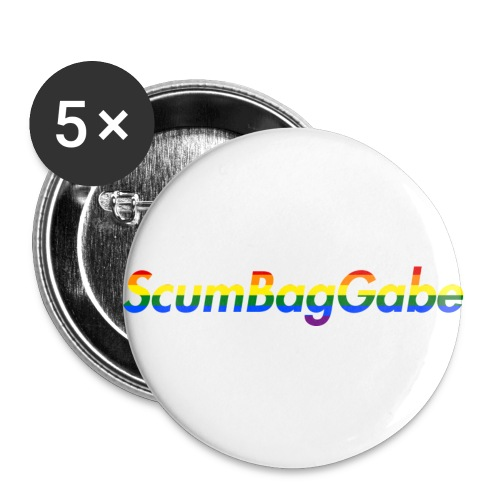ScumBagGabe Multi Logo XL - Buttons small 1''/25 mm (5-pack)