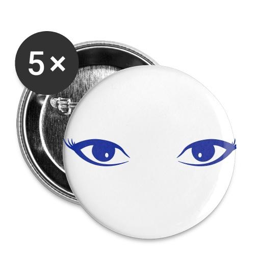 augen - Buttons klein 25 mm (5er Pack)