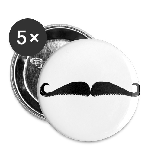 Moustache - Lot de 5 petits badges (25 mm)