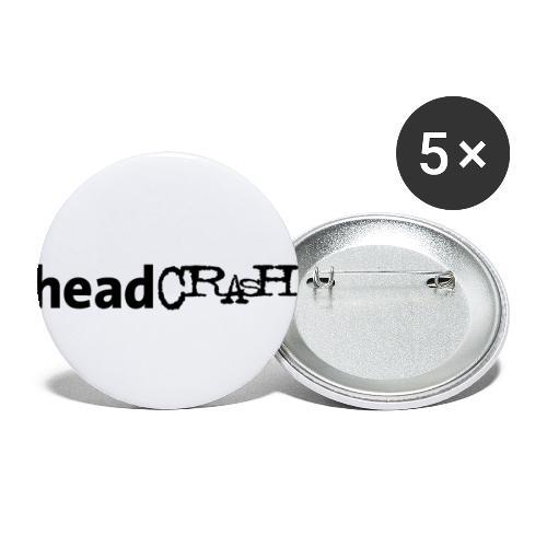 headCRASH Logo black - Buttons klein 25 mm (5er Pack)