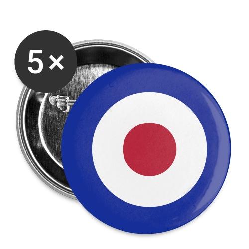 Mod Target - Buttons klein 25 mm (5er Pack)