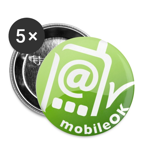 badge mobile ok - Buttons small 1''/25 mm (5-pack)