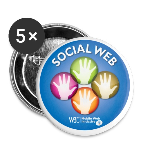 sticker social web - Buttons small 1''/25 mm (5-pack)