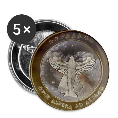 muenze1 gross - Buttons klein 25 mm (5er Pack)