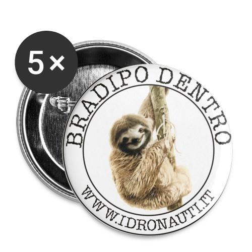 Bradipo - Confezione da 5 spille piccole (25 mm)