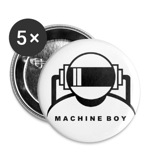 Machine Boy White - Buttons small 1''/25 mm (5-pack)