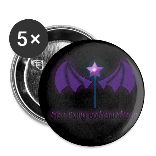 The Fairy Gothmother logo - Buttons small 1''/25 mm (5-pack)