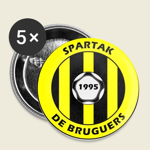 logospartak - Paquete de 5 chapas pequeñas (25 mm)