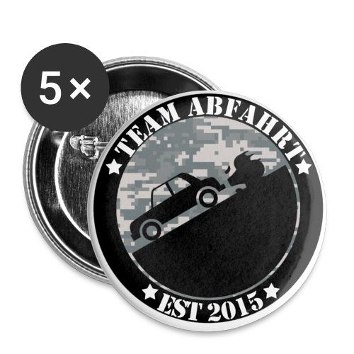 Team Abfahrt - Buttons klein 25 mm (5er Pack)