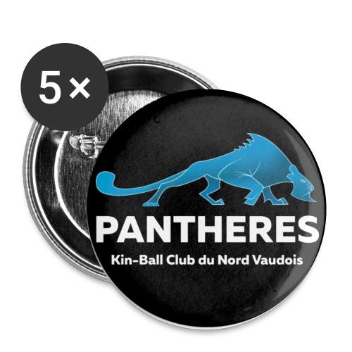 Logo Pantheres Couleur - Lot de 5 petits badges (25 mm)