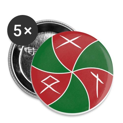 GON-Logo - Buttons klein 25 mm (5er Pack)