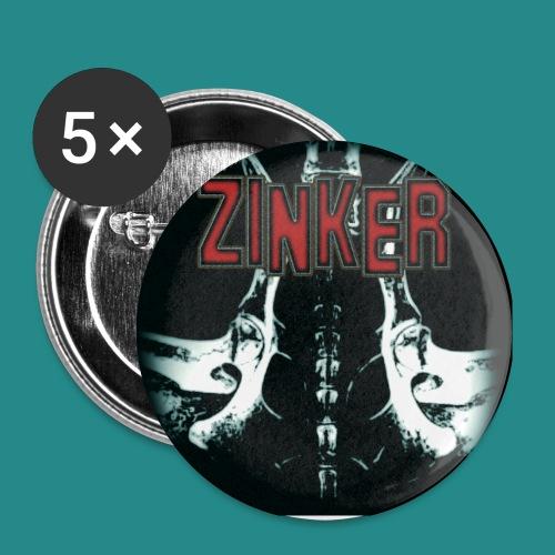 Zinker CD Cover - Buttons klein 25 mm (5er Pack)