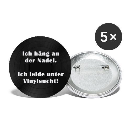 Plattensucht - Buttons klein 25 mm (5er Pack)
