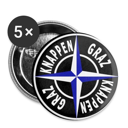 logo17 black png - Buttons klein 25 mm (5er Pack)