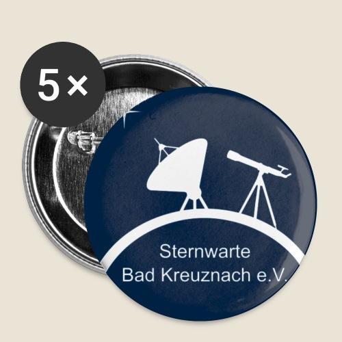 Logo-blau - Buttons klein 25 mm (5er Pack)