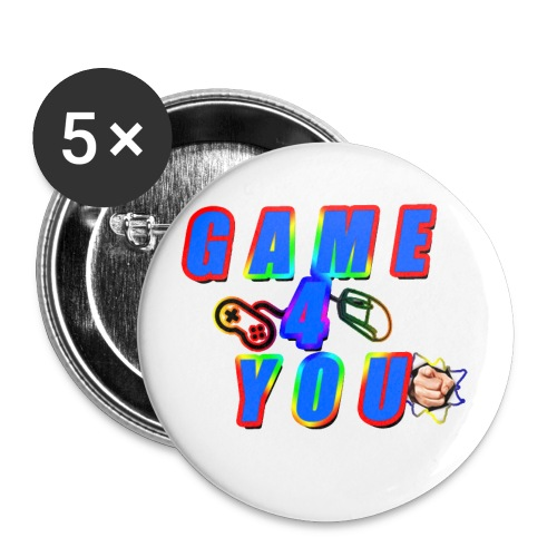 Game4You - Buttons small 1''/25 mm (5-pack)