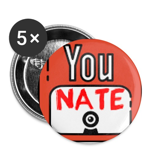 Nate's Youtube Logo - Buttons klein 25 mm (5-pack)